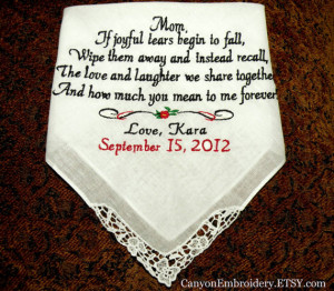 ... Wedding Hankie Sayings BridesMaid Gifts By Canyon Embroidery on ETSY