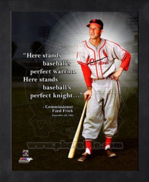Stan Musial St. Louis Cardinals Pro Quotes Framed 8x10 Photo #2 at ...