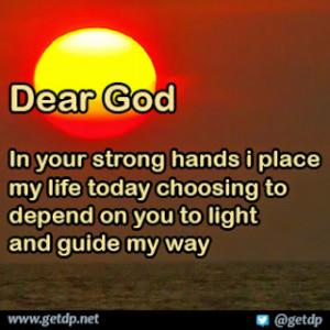 Dear God Your Strong...
