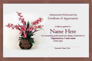 Secretary Day Certificates