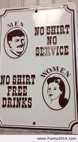 Men vs women service
