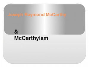 Mccarthyism And The Crucible . mccarthyism and the crucible essay .
