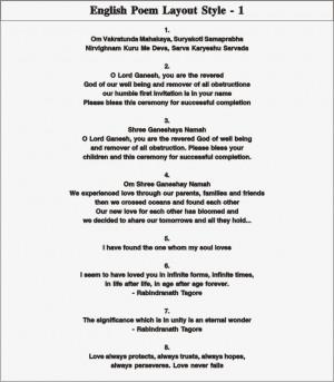 English Poem Layout - 1