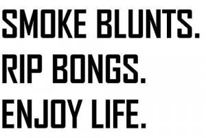 Smoking Weed Blunt