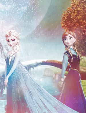 Elsa Elsa and Anna's Sisterly Bond