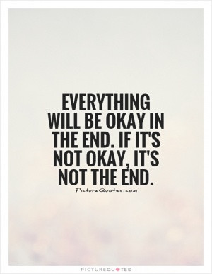 Note to self. Everything is going to be okay.
