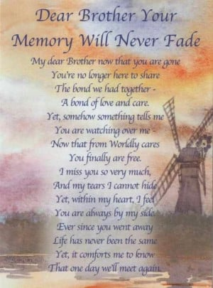 Birthday Quotes For Deceased Brother. QuotesGram