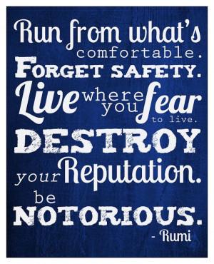 Rumi Quote Print 8x10 print Be Notorious by dutchfireball, $14.00 # ...