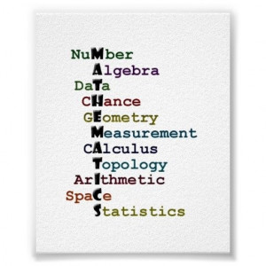 Maths - #Mathematics Poster: #acrostic covering areas of mathematics ...