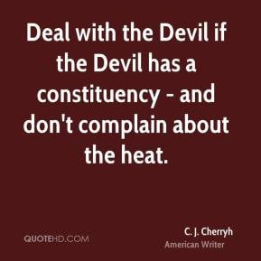 Deal with the Devil if the Devil has a constituency - and don't ...