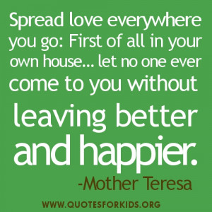 Love Quotes Mother Teresa: Mother Teresa Picture Quotes, Mother Teresa ...