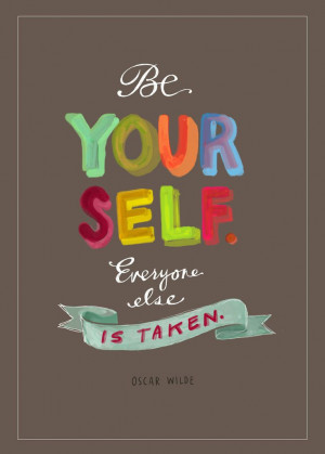 motivational quote oscar wilde be yourself print 5 x 7 inspirational ...