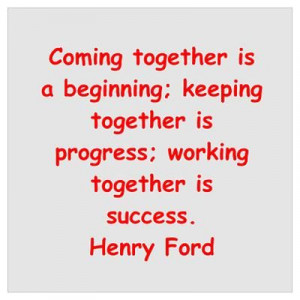 Henry Ford quotes Wall Art Poster