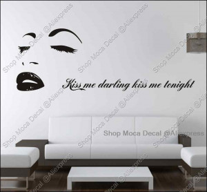 Neck Kissing Quotes Marilyn monroe quote kiss me