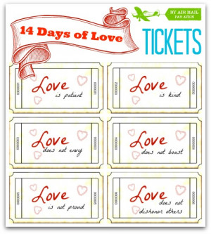 ... notes,sweet love notes,printable love coupons, 14 Days of Love Tickets