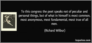 Quotes by Richard Wilbur