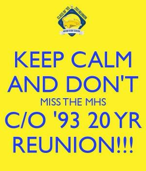 reunion!! Miami Sr. High School Class of 1993 20th Year Reunion 10/25 ...