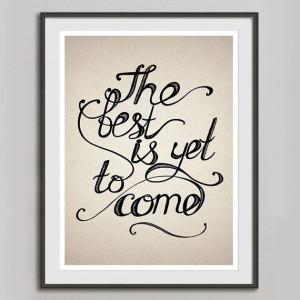 Quote Print, Retro Poster A3, Handwritten Typography Vintage Print ...