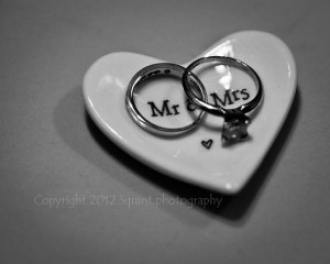 Black and White Photography - Marriage - Wedding Rings - Mr and Mrs ...