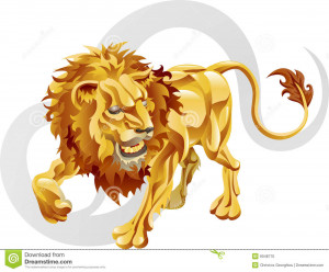 Illustration representing Leo the lion star or birth sign. Includes ...