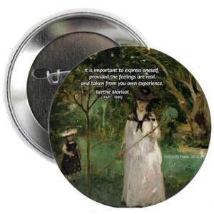 Gifts > Buttons > Berthe Morisot Art Quote Button