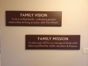 We finally finished our family vision and mission statement!Families ...