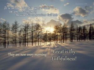 Christian Quotes: Great Is Thy Faithfulness Papel de Parede Imagem