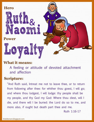 We watch the LDS Scripture Video about Ruth and Naomi. We also watched ...