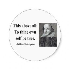 Shakespeare Quote 8b Classic Round Sticker