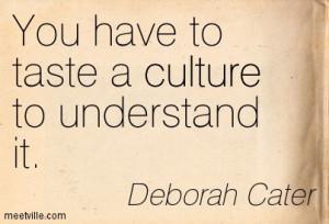 Culture Food Quotes