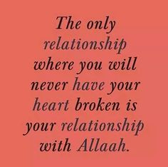 The only relationship that can heal a broken heart. More