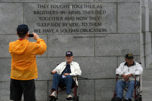 Veterans with Honor Flight Southern Arizona pose for a photograph at ...
