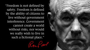 Freedom is not defined by safety freedom is defined by the ability of ...