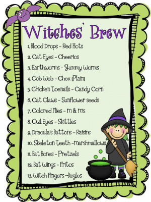 Halloween Party Time and a Witches' Brew mini-unit {freebie}!