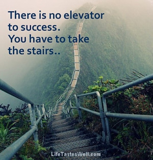 Haiku Stairs Oahu1 There is no elevator to success. You have to take ...