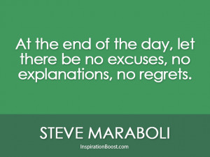 Steve Maraboli Live Life With No Regret Quotes