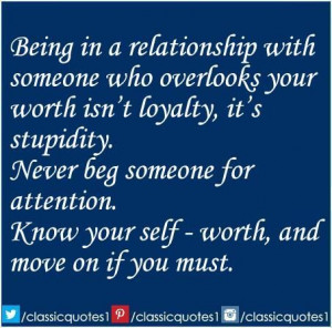 it its not about being in a find the ones who are worth it