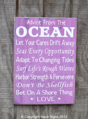 Rules, Ocean Advice, Coral Decor, Love Quotes Sayings, Radiant Orchid ...
