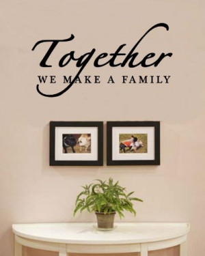 we make a family love home Vinyl Wall Decals Quotes Sayings Words Art ...
