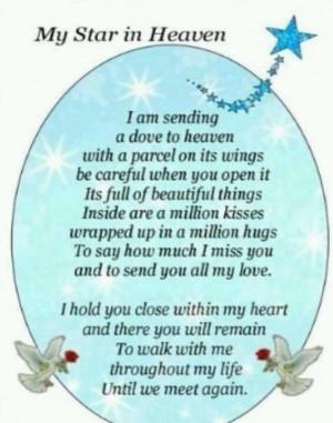 birthday mothers day poems stars birthday wish memories mom quotes ...