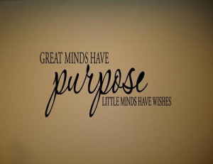 5pcs/lot GREAT MINDS HAVE PURPOSE Vinyl wall quotes lettering(China ...