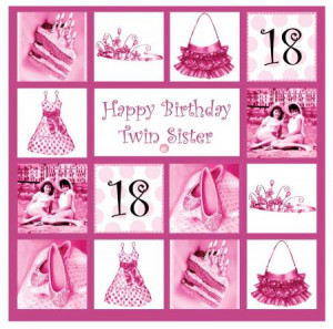 Happy Birthday Twin Sister Card (Age 18-80) - £2.80 (save £0.15)