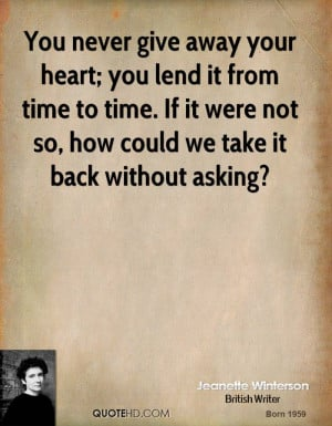 Giving Your Heart Away Quotes