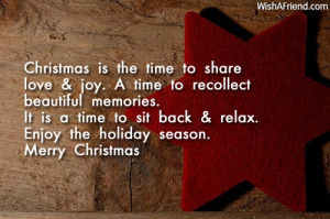 ... time to sit back & relax. Enjoy the holiday season. Merry Christmas