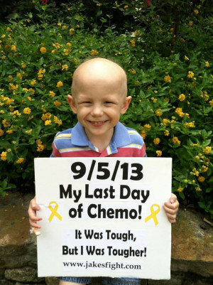 short post to let everyone know that Jake received his last chemo ...