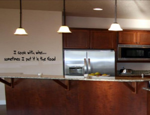 ... IT IN THE FOOD Vinyl wall quotes kitchen sayings home art decor decal