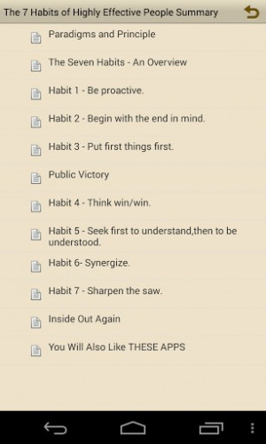 View bigger - 7 habits Summary Stephen Covey for Android screenshot