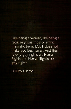 lgbt #rights #clinton #quote