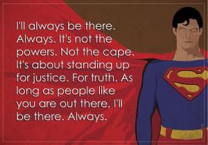 dc comics comics superman quotes superheroes justice truth reeves ...