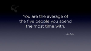Jim Rohn quote, average of five people